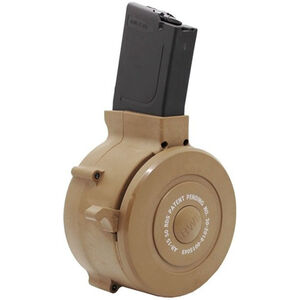 Iver Johnson AR-15 Drum Magazine .223 Remington 50 Rounds Carry Case Polymer Black and Tan