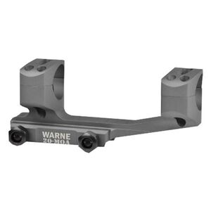 Warne Scope Mounts Gen 2 Extended SKEL One Piece MSR/AR-15 Skeletonized Scope Mount 30mm Tube Diameter 20 MOA Lightweight 6061 Aluminum Matte Black