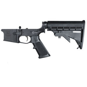 KE Arms KE-15 Complete AR-15 Lower Receiver Assembly Forged Aluminum A2 Pistol Grip Carbine Stock Matte Black