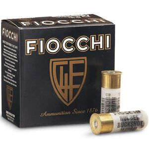 "Fiocchi LE 12 Gauge Ammunition 25 Rounds 2.75"" Less Lethal 00 Rubber Buckshot 15 Pellets"