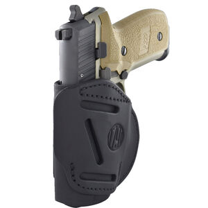"""1791 Gunleather 4WH-1 4 Way Multi-Fit OWB/IWB Concealment Holster for 3""""/4"""" 1911 Models Left Hand Draw Leather Stealth Black"""