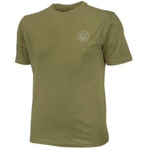 Beretta USA Logo T-Shirt Short Sleeve Men's Size Medium Cotton Army Green