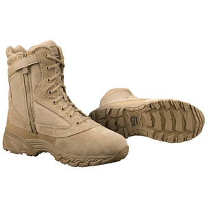 "Original S.W.A.T. Chase 9"" Tactical Side Zip Boot Nylon/Leather Size 10.5 Regular Tan 20-OS-131202-105"