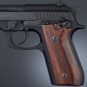 Hogue Fancy Hardwood Grips Taurus PT-92/99/101 With Decocker Cocobolo 99820