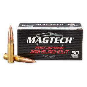 Magtech First Defense .300 Blackout Ammunition 50 Rounds FMJ 123 Grains 300BLKB