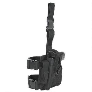 Voodoo Tactical Tactical Drop Leg Holster Right Hand Black 20-0052
