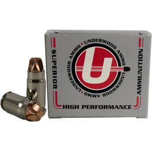 Underwood Ammo .357 SIG Ammunition 20 Round Box 65 Grain Solid Copper 2100 fps