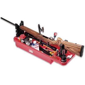 MTM Case-Gard Gunsmith's Maintenance Center  Adjustable Mounts Solvent Oil And Cleaning Supply Compartment Base
