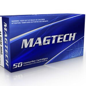 Magtech .44 Magnum Ammunition 1000 Rounds SJSP 240 Grains 44A