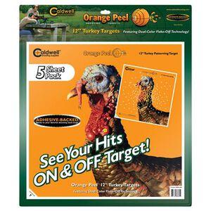 "Caldwell Orange Peel Adhesive Turkey Targets 12"" 5-Pack 555050"