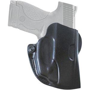 DeSantis Mini Scabbard S&W M&P Shield with Viridian Reactor Laser Belt Holster ECR Equipped Right Hand Leather Black