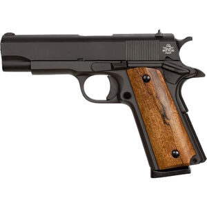 "Rock Island Armory 1911 GI Midsize Semi Automatic Pistol .45 ACP 4.25"" Barrel 8 Rounds Smooth Wood Grips Parkerized Finish 51417"
