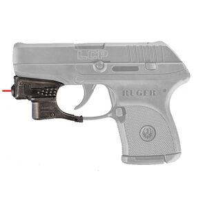 AimShot Trigger Guard Mounted Red Laser Ruger LCP CR1/3N Battery Nylon Reinforced Carbon Fiber Housing Matte Black Finish