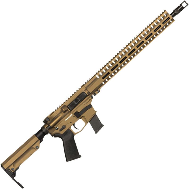 "CMMG Resolute 300 MkG .45 ACP AR-15 Semi Auto Rifle 16"" Barrel 13 Rounds Uses GLOCK Style Magazines RML15 M-LOK Handguard RipStock Collapsible Stock Burnt Bronze Finish"
