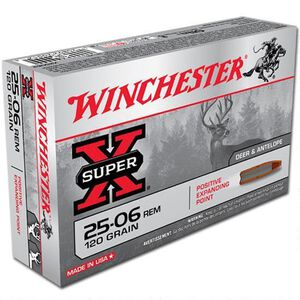 Winchester Super X .25-06 Rem Ammunition 200 Rounds, PEP, 120 Grains