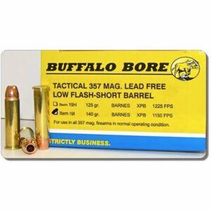 Buffalo Bore Tactical Short Barrel .357 Magnum Ammunition 20 Rounds JHP 140 Grains 19I/20