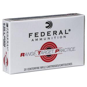 Federal Range Target Practice 5.56 NATO Ammunition 20 Rounds 55 Grain Full Metal Jacket