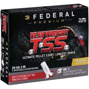 """Federal Heavyweight TSS 20 Gauge Ammunition 5 Rounds 3"""" #7 Tungsten Shot 1-1/2 Ounce 1200fps"""