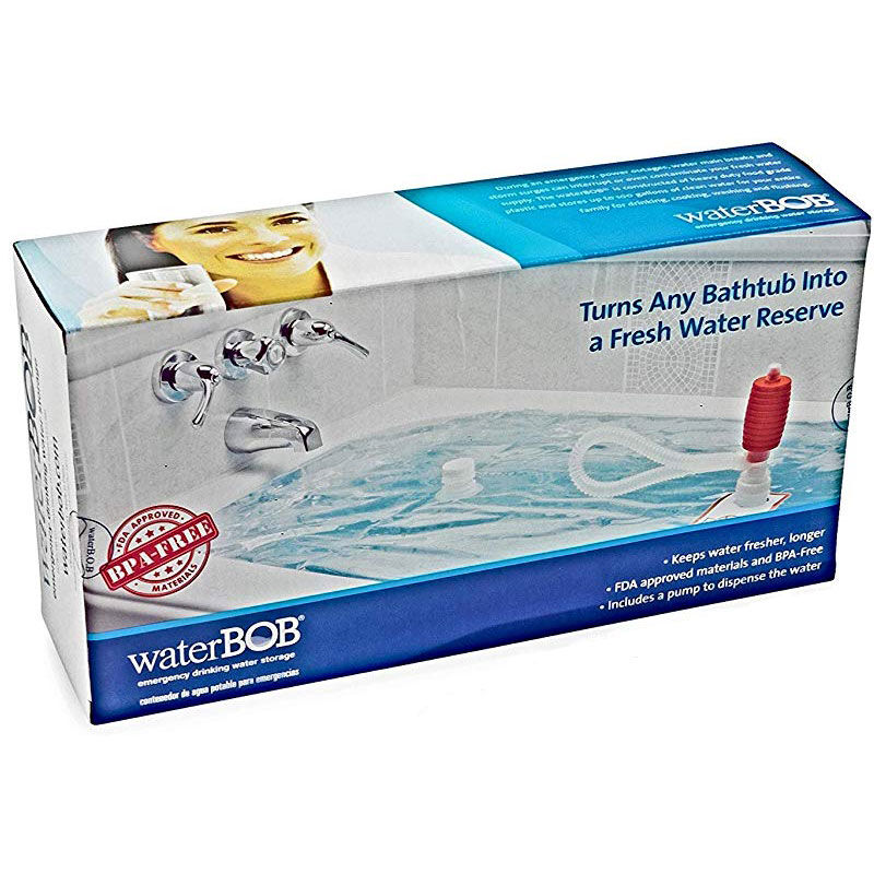 WaterBOB Emergency Drinking Water Storage 100 Gallon With Siphon Pump FDA Approved Bladder