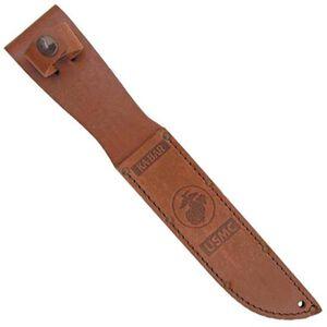 "Ka-Bar Sheath Full Size 7"" Blades Leather Brown USMC Insignia Belt Loop 1217S"