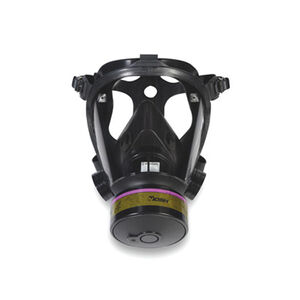 Survivair Opti-Fit Tactical Mask 5 point Strap 3 Canister Mounting Locations Medium 40mm Threads