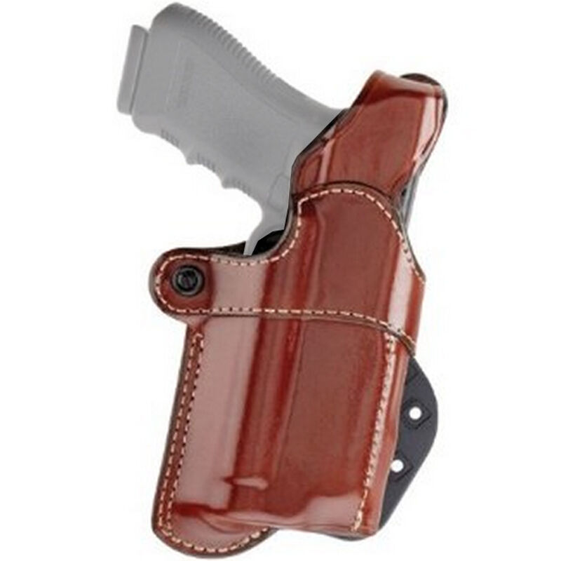 Aker Leather Nightguard GLOCK 20/21 with M3/ TLR-1/TLR-2 Paddle Holster Right Hand Leather Tan
