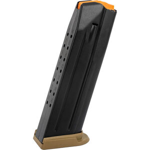 FN Herstal USA FN 509 Full Size 17 Round Magazine 9mm Luger Flat Dark Earth Base Plate Black Finish