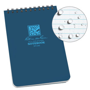 """Rite in the Rain All-Weather Notebook 4"""" x 6"""" Waterproof Polydura Blue"""