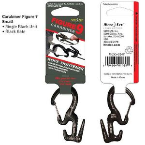 Nite Ize Carabiner Figure 9 Stainless Steel Small Black