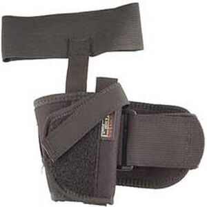 """Uncle Mike's Ankle Holster Medium- & Large-Frame Autos 3-1/4"""" to 3-3/4"""" Barrels Size 16 Right Hand Nylon Black"""