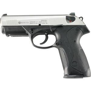 "Beretta PX4 Storm Inox Semi Auto Handgun 9mm 4"" Barrel 10 Rounds Black Polymer Frame Stainless Slide JXF9F50"