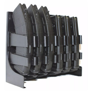 Mag Storage Solutions AK-47/AR-10 Magazine Holder Impact Grade ABS Plastic Matte Black Finish