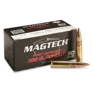 Magtech First Defense .300 Blackout Ammunition 1000 Rounds HPFB 115 Grains 300BLKA