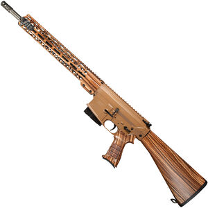 "Windham Weaponry .308 Wood Grain .308 Win AR-308 Semi Auto Rifle 18"" Fluted Barrel 5 Rounds Wood Grain Dipped Furniture Brown Cerakote Finish"