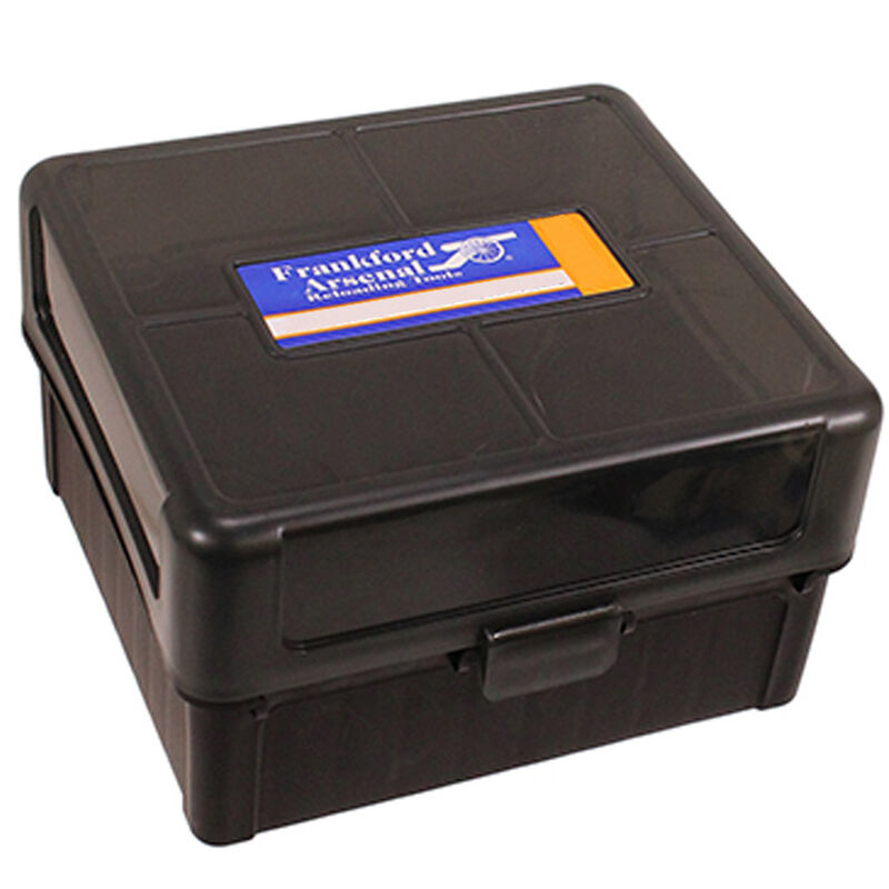 Frankford Arsenal Plastic Hinge-Top Ammo Box 100 Round .243 Win/308 Win and Similar Polymer Gray