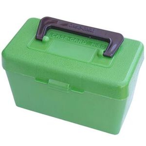 MTM Case-Gard Deluxe H-50 Series Rifle Ammo Box XL Rifle Holds 50 Rounds Green H50-XL-10