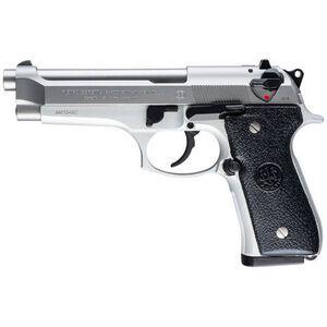 "Beretta 92FS Semi Auto Pistol 9mm 4.9"" Barrel 15 Rounds Polymer Grips Inox Stainless Steel"