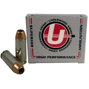 Underwood Ammo 10mm Auto Ammunition 20 Rounds 135 Grain Nosler JHP 1600 fps