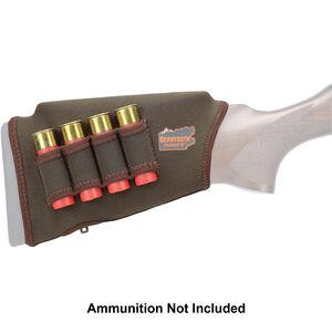 "Beartooth Products Comb Raising Kit 2.0 with Shotgun Ammo Loops 7"" Long Fits Most Shotgun Stocks Neoprene Brown"