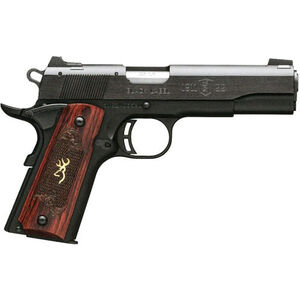 "Browning 1911-22 Medallion Semi Auto Rimfire Pistol .22 LR 4.25"" Barrel 10 Rounds Rosewood Grips Black"