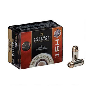 Federal Personal Defense HST 9mm Ammunition 20 Rounds JHP 124 Grain 1,150 Feet Per Second