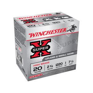 """Winchester, Super X 20 Gauge Ammunition 100 Rounds, 3/4 Ounce, #7 Steel, 2.75"""""""