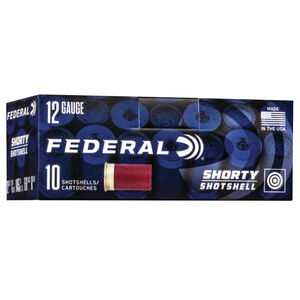 "Federal Shorty Shotshells 12 Gauge Ammunition 10 Rounds 1-3/4"" Shell #8 Shot Size 15/16 Ounce 1145fps"