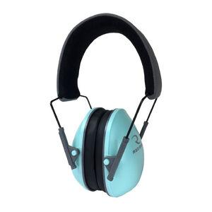 Radians Lowset Earmuff Passive -21dB Noise Reduction Rating Adjustable Moisture Wicking Headband Compact Folding Feature Aqua/Charcoal Finish