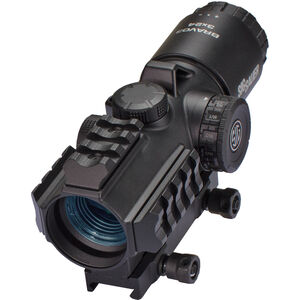 SIG Sauer Bravo3 3x24 Red Dot Optic Illuminated 5.56/7.62 Horseshoe Dot Reticle Picatinny Hex Bolt Mount .5 MOA Adjustment CR2 Battery Aluminum Housing Black Finish