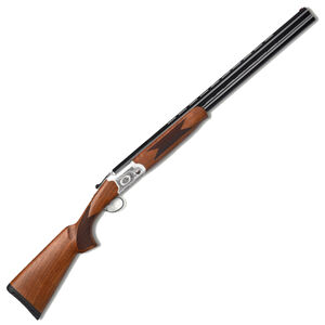 "Pointer Arista 12 Gauge Over/Under Shotgun 28"" Barrels 3"" Chamber 2 Rounds Fiber Optic Front Sight Turkish Walnut Stock Nickel Receiver/Black Barrels"