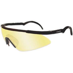 Wiley X Eyewear Saber Advanced Tactical Glasses Yellow Grey Lenses Black Frame 302