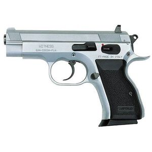 "EAA Witness Compact Semi Auto Pistol .45 ACP 3.6"" Barrel 8 Rounds Rubber Grip Steel Wonder Finish 999157"