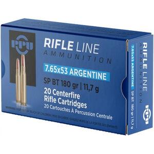 Prvi Partizan PPU 7.62x53 Argentine Ammunition 180 Grain SPBT 2545fps