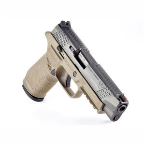 """Wilson Combat Sig P320 Full Size 9mm Semi Auto Pistol 4.7"""" Barrel 17 Rounds Action Tuned Curved Trigger Tan"""